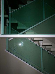 corrimão de vidro temperado